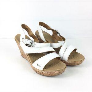 ec0349e661dc3 Born Shoes - BOC Born Concept Schirra White Wedge Sandals